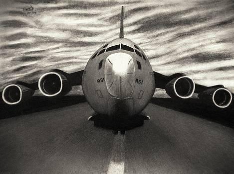 Heavy Takeoff - Sepia by Vishvesh Tadsare