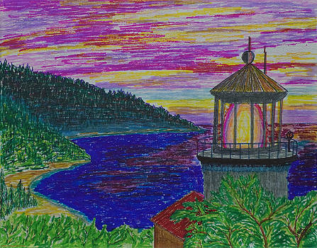 Mick Anderson - Heceta Head Colorful Sunset