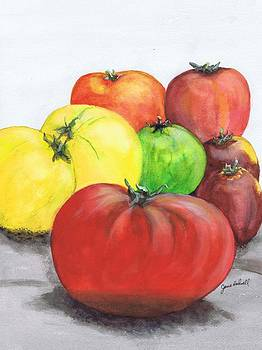 Heirloom Tomatoes by June Holwell