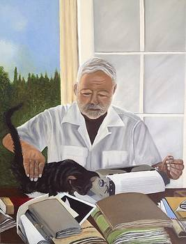 Hemingway With The Cat by Caroline  Stuhr