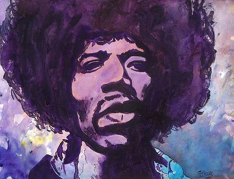 Jeremy Moore - Hendrix Watercolor Portrait Number One
