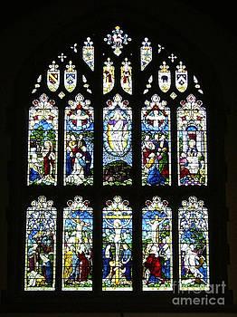 Heptonstall Chapel Window by Carolyn Burns Bass