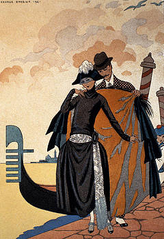 Georges Barbier - Her and Him Fashion Illustration