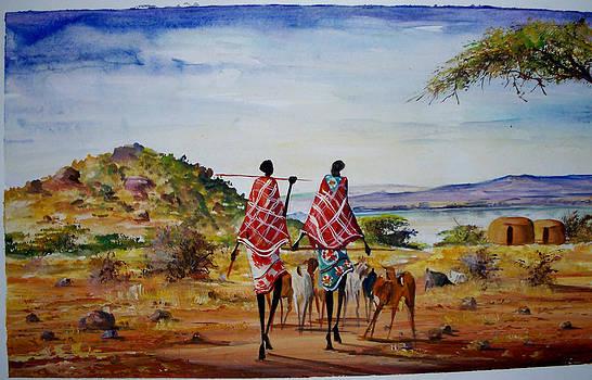 Herding home by Malack Kelvin