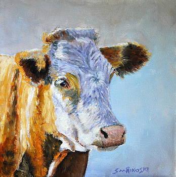 Hereford Cow by Louise Charles-Saarikoski