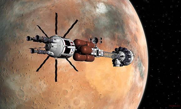 Hermes1 Mars insertion Part 1 by David Robinson
