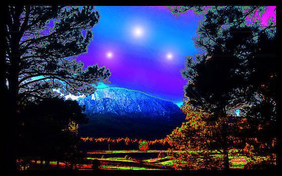 Hermit Peak at Vera's Ranch by Susanne Still