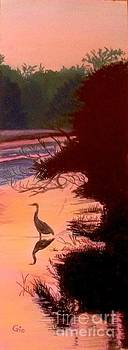 Heron at Sunset by Frank Giordano
