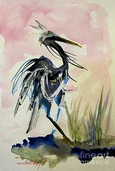 Heron on Pink by Delilah  Smith