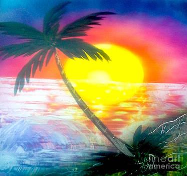 High Tide Sunset by William  Dorsett