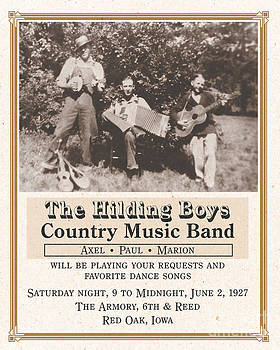 Hilding Boys Band Poster by Gerald MacLennon