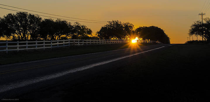 Hill Country Sunrise 2 by Debbie Karnes