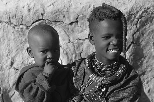 Himba children by Rafa Soriano