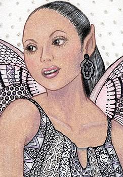 Hispanic Fairy -- Pink is Her Favorite Color by Sherry Goeben