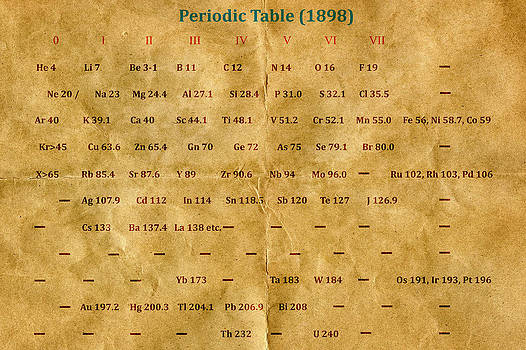 Historic Periodic Table  by Carol and Mike Werner