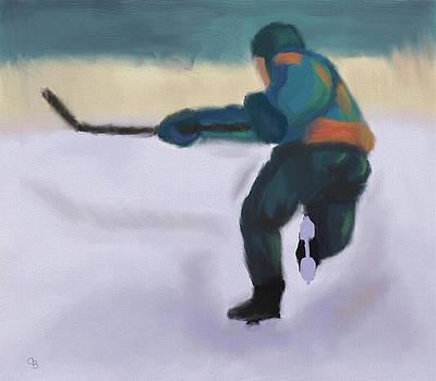 Hockey Player by Arlene Babad