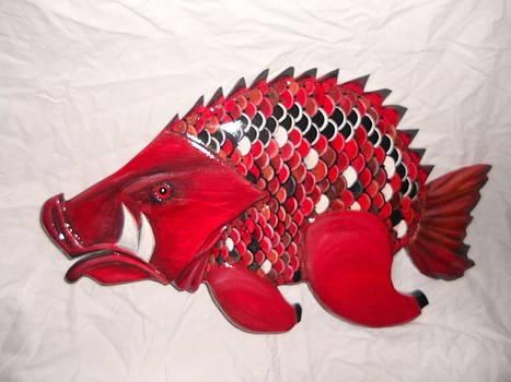Hog Fish number eight by Lisa Ruggiero