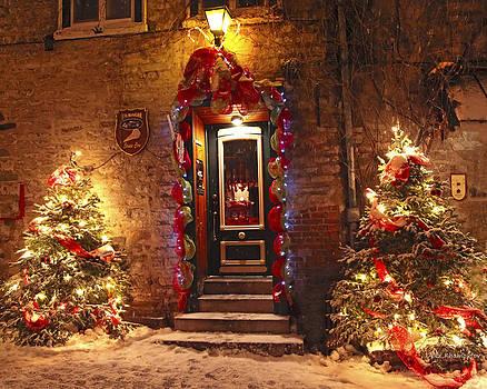 Holiday in Quebec City - Rue du Petit Chaplain Lights by Alex Khomoutov