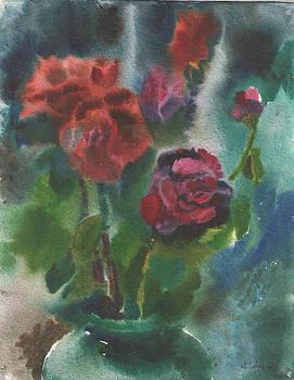 Holiday roses by Anna Lobovikov-Katz