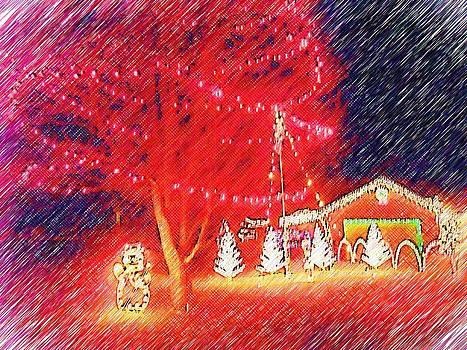 Holiday Tree and Santa by Skyler Tipton