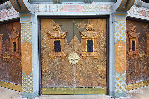 Wingsdomain Art and Photography - Hollywood TCL Chinese Theatre Main Entrance Doors 5D29002