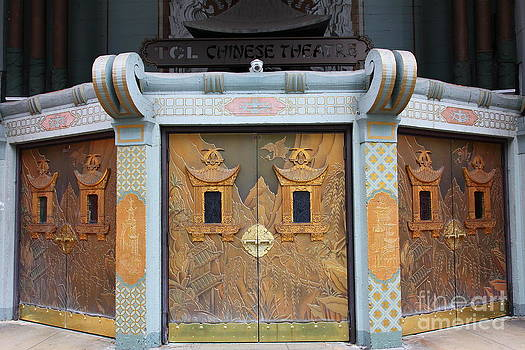 Wingsdomain Art and Photography - Hollywood TCL Chinese Theatre Main Entrance Doors 5D29003