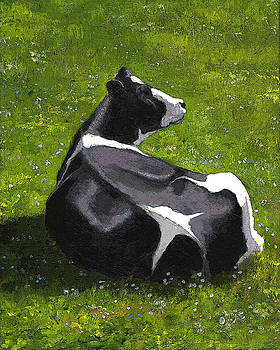 Joyce Geleynse - Holtein Cow Lying Down