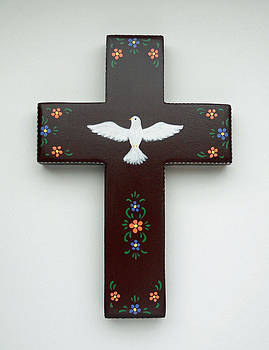 Holy Spirit Wall Cross by Theresa Stites