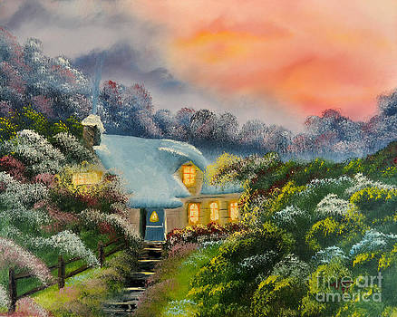 Home in the Fall by Edward C Van Wicklen Sr