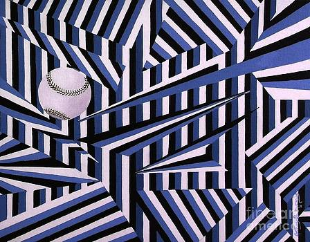 Home Run in Blue by Anthony Morris