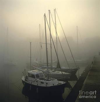 BERNARD JAUBERT - Honfleur Harbour in fog. Calvados. Normandy