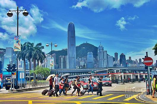 Hong Kong Crosswalk  by Sarah Mullin
