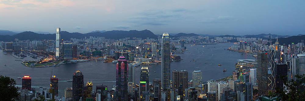 Hong Kong Night Panorama by Jason KS Leung