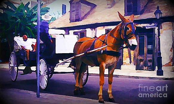 John Malone - Horse and Carriage in Front of Lafitte