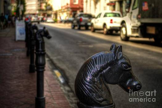 Horse Head Hitching Posts New Orleans by Timothy Lowry