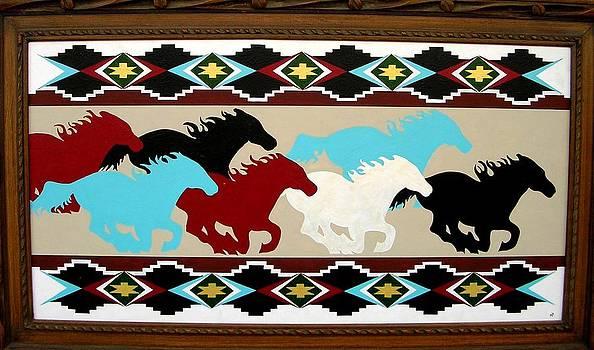 Horses at full gallop by Paul Ferrara