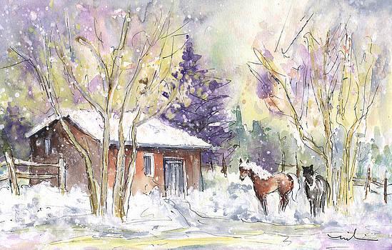 Miki De Goodaboom - Horses In Voerstetten In Winter