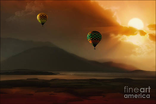 Hot Air Balloons At Sunset by Tom York Images