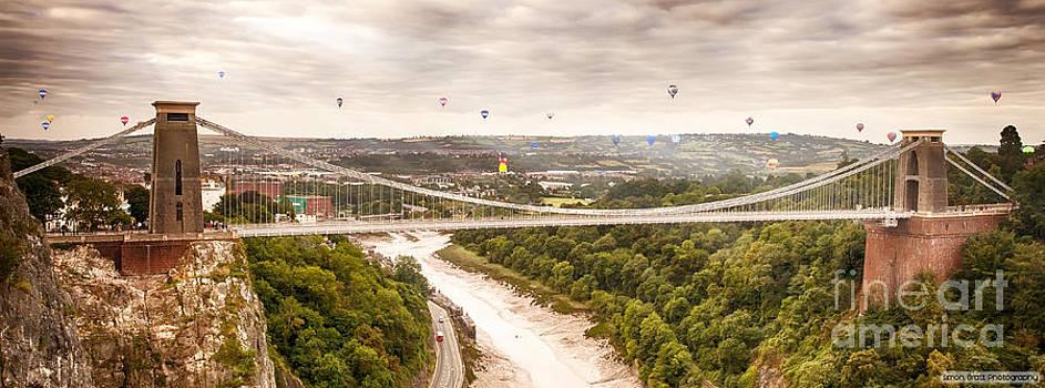 Simon Bratt Photography LRPS - Hot air balloons behind suspension bridge