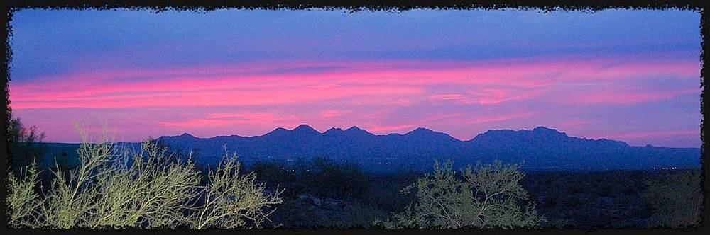 Hot pink Sunset by Jill Moran