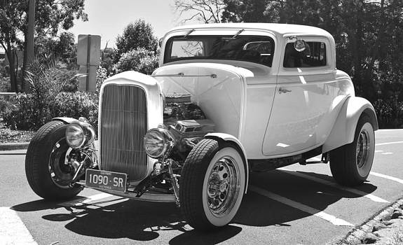 Hot Rod in Black and White by Patrick OConnell