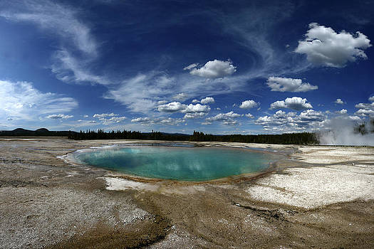 Hot Spring In Middle Geyser Basin by Raul Touzon