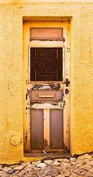 Hot Yellow Door of Portugal by Calvin Hanson