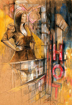 Hotel Balcony by Ertan Aktas