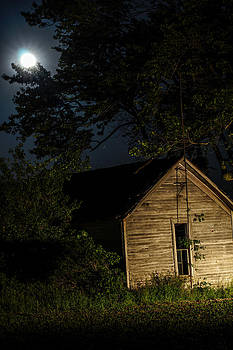 House In The Moonlight by Randy  Shellenbarger