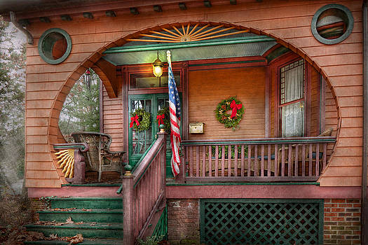 Mike Savad - House - Porch - Metuchen NJ - That yule tide spirit