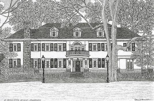 House Portrait - Pen And Ink Rendering Of Your Home by David Hinchen
