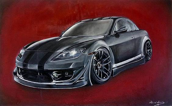 Hubbys RX8 by Kim McWhinnie