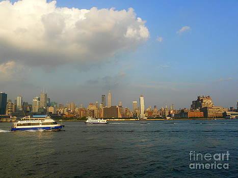 Hudson River Traffic by Avis  Noelle