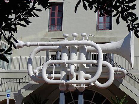 Huge Trumpet by Janis  Tafoya